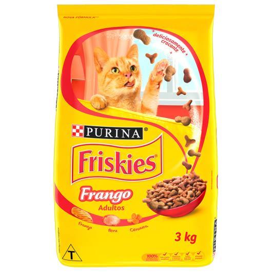Alimento para Gatos Adultos Frango Purina Friskies Pacote 3kg - Imagem em destaque