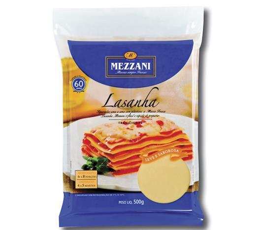 Massa para lasanha Mezzani  fácil 400g - Imagem em destaque