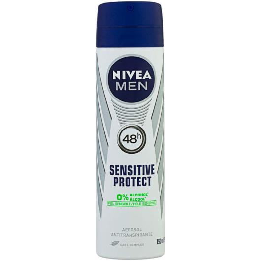 Desodorante Antitranspirante Aerossol Nivea Sensitive Protect 150ml - Imagem em destaque