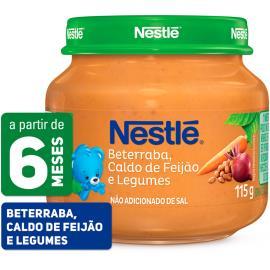 PAPINHA Nestlé Beterraba, Caldo de Feijão e Legumes Pote 115g