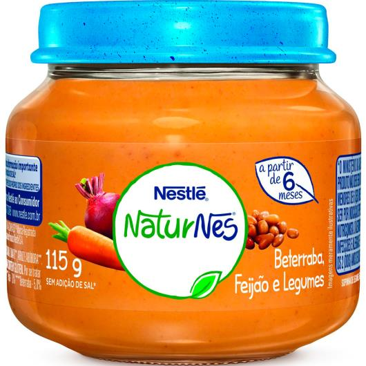 PAPINHA Nestlé Beterraba, Caldo de Feijão e Legumes Pote 115g - Imagem em destaque