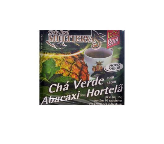 Chá Real  multiervas verda abacaxi com hortelã 15g - Imagem em destaque