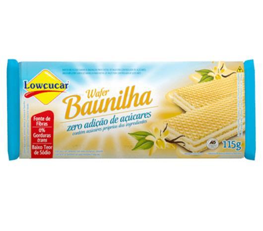 Wafer Lowçucar O% gordura sabor baunilha 115g - Imagem em destaque