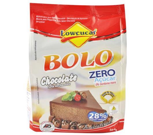Mistura para bolo Lowçucar sabor chocolate light 300g - Imagem em destaque
