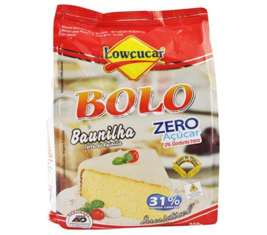 Mistura para bolo Lowçucar sabor baunilha light 300g - Imagem em destaque