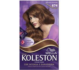 Coloração 674 chocolate acobreado Koleston Wella 1un