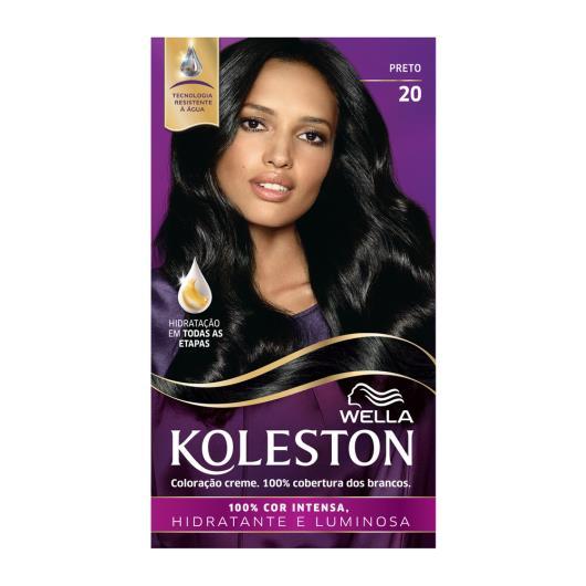 Coloração 20 preto Koleston Wella 1un - Imagem em destaque