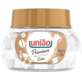 Açúcar União refinado granulado cubos premium 250g
