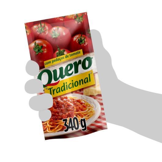 Molho de tomate Quero tradicional sachê 340g - Imagem em destaque