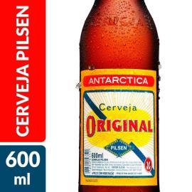 Cerveja Antarctica original pilsen garrafa 600ml
