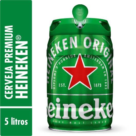 Cerveja Heineken barril 5L - Imagem em destaque
