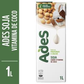 Bebida de soja Ades frapê de coco 1L
