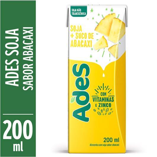 Bebida de soja Ades sabor abacaxi 200ml - Imagem em destaque
