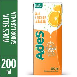 Bebida de soja Ades laranja 200ml