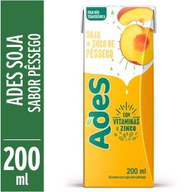 Bebida de soja Ades sabor pêssego 200ml