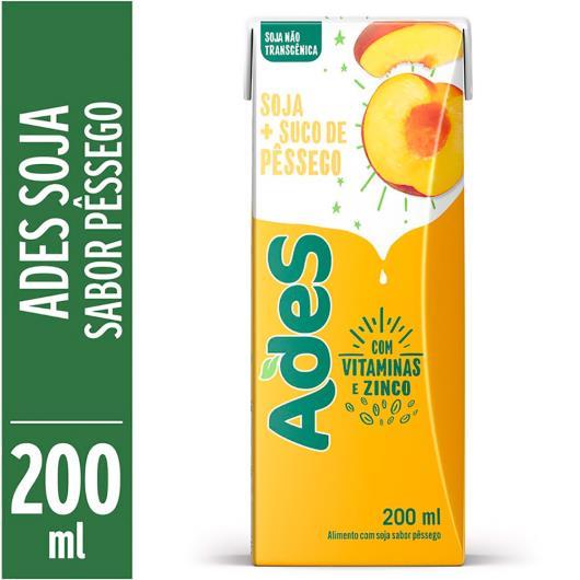 Bebida de soja Ades sabor pêssego 200ml - Imagem em destaque