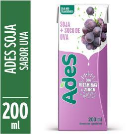 Bebida de soja Ades sabor uva 200ml