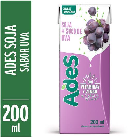 Bebida de soja Ades sabor uva 200ml - Imagem em destaque