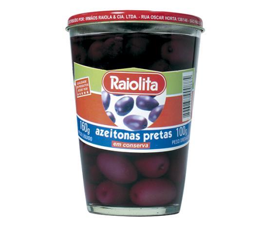 Azeitona Raiolita preta 100g - Imagem em destaque